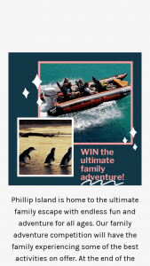 Destination Phillip Island – Win a Phillip Island Ultimate Family Experience (prize valued at $340)