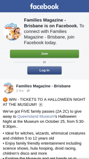 Families Magazine Brisbane – Win Prize Is Not Claimed In Accordance With These Terms and Conditions (prize valued at $60)