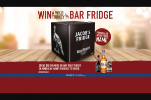 First Choice Liquor -Wild Turkey /American Honey – Win a Personalised Wild Turkey Bar Fridge In Store Promotion (prize valued at $279)
