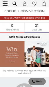 French Connection – Win The Ultimate (prize valued at $4,067)