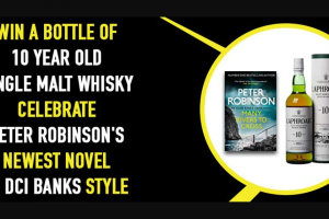 Hachette – Win a Bottle of Single Malt Whisky to Celebrate Peter Robinson's New Book