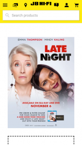 JB HiFi Pre-order a copy of Late Night on DVD or bluray to – Win a $500 Good Food Voucher (prize valued at $500)