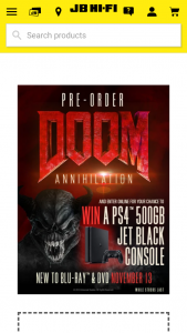 JB HiFi Pre-order DoomAnnihilation to – Win a Playstation 4 500gb Jet Black Console (prize valued at $450)