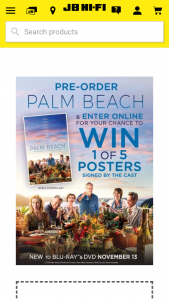 JB HiFi Pre-order Palm Beach on DVD or bluray – Win 1 of 5 Posters Signed By The Cast (prize valued at $1,250)