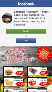 Lakeside Fruit Barn Forest Lake – Win a Weekly Gift Voucher of $50 to Spend In Store