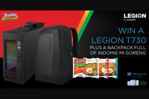 Lenovo – Win The Following Lenovo Legion Prize Pack Valued at Aud$3491.80 (including Gst) (prize valued at $2,999)