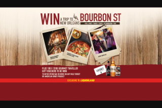 """Liquorland & Wild Turkey – Spend $40 – Win a Trip to Bourbon St"""" Promotion (prize valued at $11,160)"""