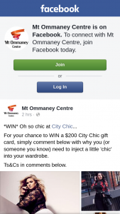 Mt Ommaney Centre – Win a $200 City Chic Gift Card (prize valued at $200)