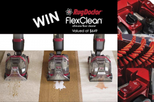 Mum Central – One Flexclean All-In-One Floor Cleaner to One Lucky Family (includes a Two-Year Warranty and a Bottle of Rug Doctor All-In-One Cleaning Solution (prize valued at $649)