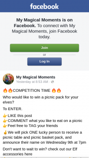 My Magical Moments – Win a Picnic Pack for Your Elves