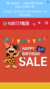 Rumbles Paleo – Win a $150 Store Voucher (prize valued at $150)
