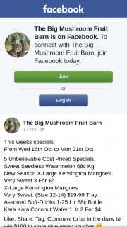 The Big Mushroom Fruit Barn – Win $100 In Store Give-Away Voucher