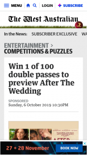 The West Australian – Win an Ultimate Garage Prize Package Valued at Up to $52000