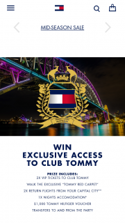 Tommy Hilfiger – Win a Trip to The Tommy Red Carpet Event In Sydney (prize valued at $2,500)
