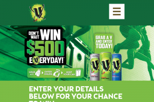 V Energy Drink – Win $500 a Day (prize valued at $24,500)