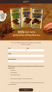 Whittaker's Chocolates – Win a Delicious Creamy Milk Block for Yourself