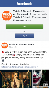 Yatala 3 drive-in theatre – Win a Free Family Car Pass to See Any Film Tonight