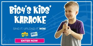 Big4 – Kids Karaoke – Win 1 of 5 major prizes of a 2-night cabin accommodation voucher each OR 1 of 10 runners-up prizes