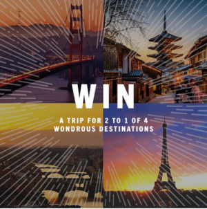 Casella Wines – Win a grand prize of a trip for 2 to either Paris, Italy, Tokyo or San Francisco OR 1 of 6 Go Pro Hero 7 in Black