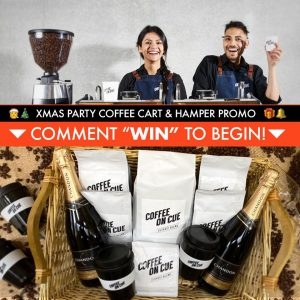 Coffee On Cue – Win a major prize package valued at $2,500