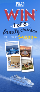 Harvey Norman – Win 1 of 8 family cruises for 4 PLUS 1 of 8 Voyager Domestic travel vouchers