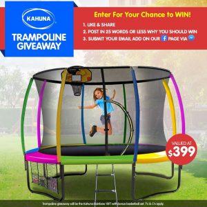 KLiKa.com.au – Win a Kahuna Rainbow 10FT with a basketball set