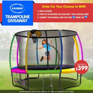 KLiKa.com.au – Win a Kahuna Rainbow 10FT with a basketball set