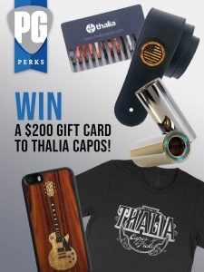Premier Guitar – Win a $200 gift card from Thalia Capos