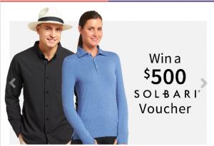 Solbari – Win a $500 Solbari gift voucher