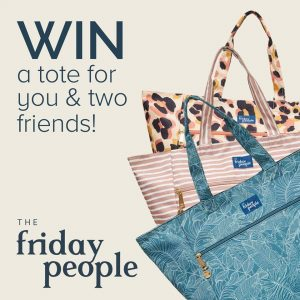 The Friday People – Win 3 carryall tote bags