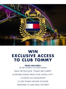 Tommy Hilfiger – Win a prize package to see Mr. Tommy Hilfiger (flights for 2 and more included)