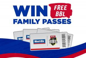 Weet-Bix – Win a BBL family tickets of 4 to the match they chose
