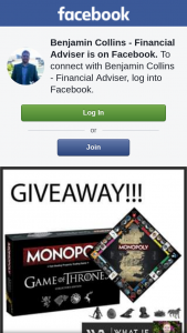 Benjamin Collins Financial Advisor – By Liking My Page