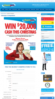 CHEMPROSpend $25 instore to – Competition (prize valued at $20,000)