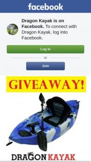 Dragon Kayak – a Baby Dragon Pro-Fisher Kids Kayak Worth $349 (prize valued at $349)