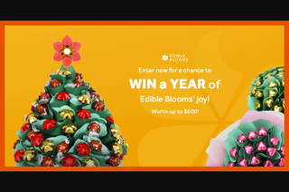 Edible Blooms – Win a Year of Edible Blooms Joy (prize valued at $600)