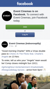 Event Cinemas Indooroopilly – Win a Vmax Double Pass to Chicks at The Flicks Feat