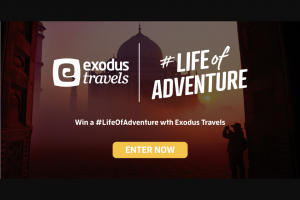 Exodus Travels Australia – Win The Prize (prize valued at $2,500)