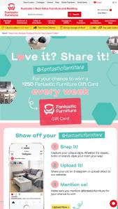 Fantastic Furniture – Win a $250 Fantastic Furniture Gift Card