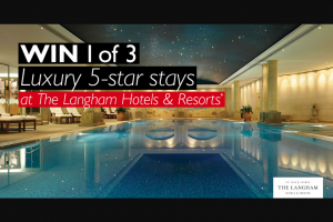 FlightCentre Business Travel – Win 1 of 3 Luxury Overnight Stays on Us When You Book a Stay at The Langham Hotels & Resorts Between 4 Nov 19 and 29 Nov 19