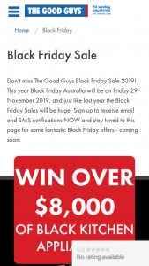 Good Guys – Win an Incredible Black Friday Prize (prize valued at $2,195)