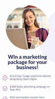 """Grant Broadcasters – """"win a Website (prize valued at $3,500)"""