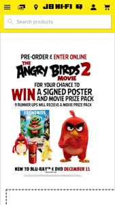 JB HiFi Pre-order Angry Birds 2 to – Win a Signed Poster & Movie Prize Pack (prize valued at $800)