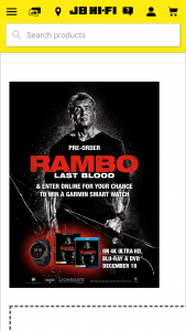 JB HiFi Preorder Rambo – Win a Garmin Smart Watch (prize valued at $549)