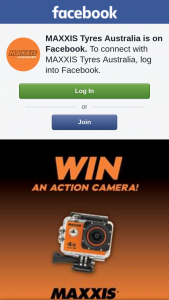 MAXXIS Tyres Australia – Win Participants Must Have Liked The Maxxis Tyres Australia Facebook Page and Performed The Action Specified In The Promotional Post Via The Maxxistyresaustralia Facebook Page