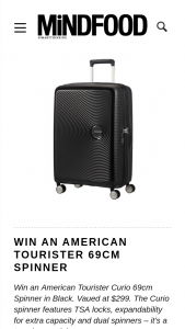 MindFood – Win an American Tourister Curio 69cm Spinner In Black (prize valued at $299)