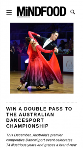 MindFood – Win 1 of 3 Double Passes (prize valued at $180)