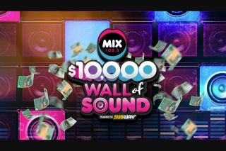 Mix102.3 $10 – Win $10000 at The End of The Competition Period As Specified By The Promoter (prize valued at $10,000)