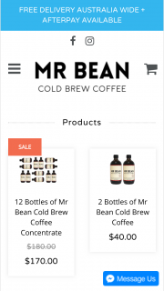 MR BEAN COLD BREW COFFEE – Win One Year Worth of Mr Bean Cold Brew & 1x Espresso Martini Kit &#127864 Delivered to Your Door Anywhere In Australia Each Month (prize valued at $820)