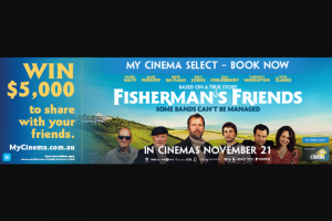 My Cinema – Win $5000 to Share With Your Friends (prize valued at $5,000)